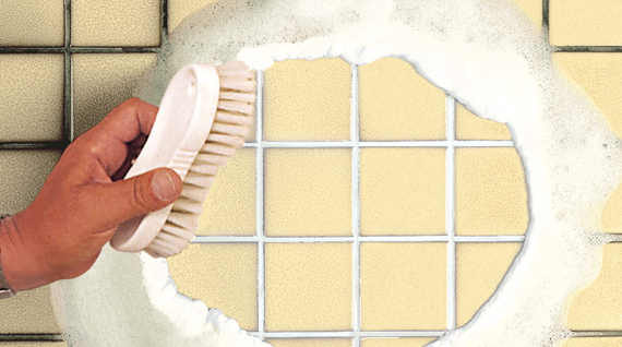 Grout whitening