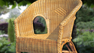 Rattan and cane garden furniture