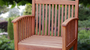Teak and other hard wood garden furniture, patios etc.