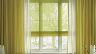 Curtains, net curtains, textile blinds
