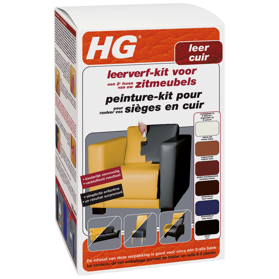 HG leather dye kit dark brown