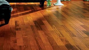 Waxed parquet and wooden floor and hard wood flooring