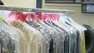 Dry cleaning clothing