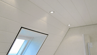 Synthetic doors, walls, ceilings, frames, vertical blinds, window sills