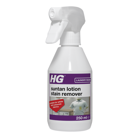 HG suntan lotion stain remover