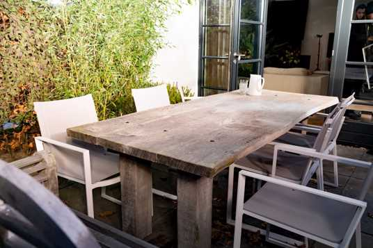 Green algae and dirt on patios