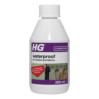 HG waterproof for cotton, linen, wool and mixed fabric types
