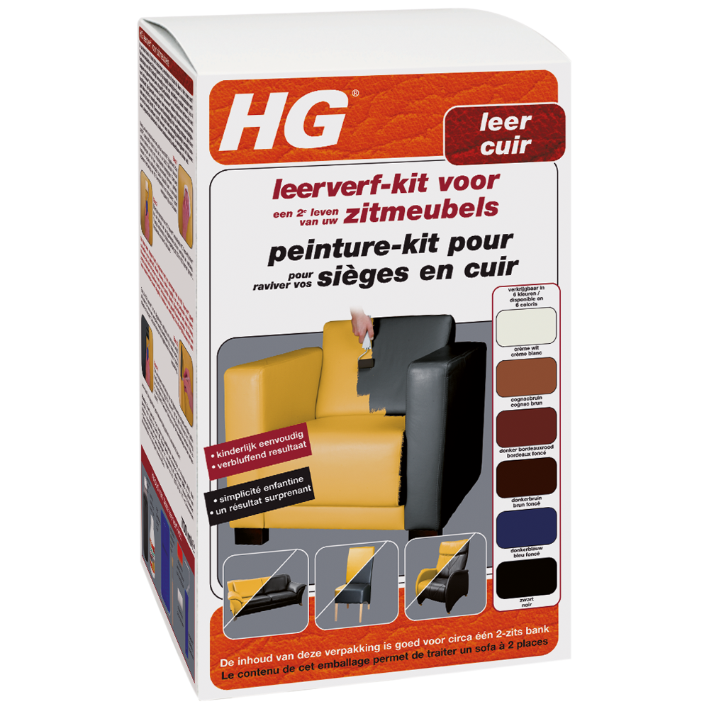 HG leather dye kit black